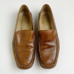 ECCO Men's Brown Leather Slip-on Loafers 11/EU 45